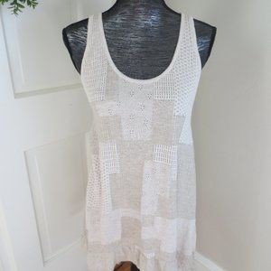 Anthropologie Knitted & Knotted Patchwork Dress